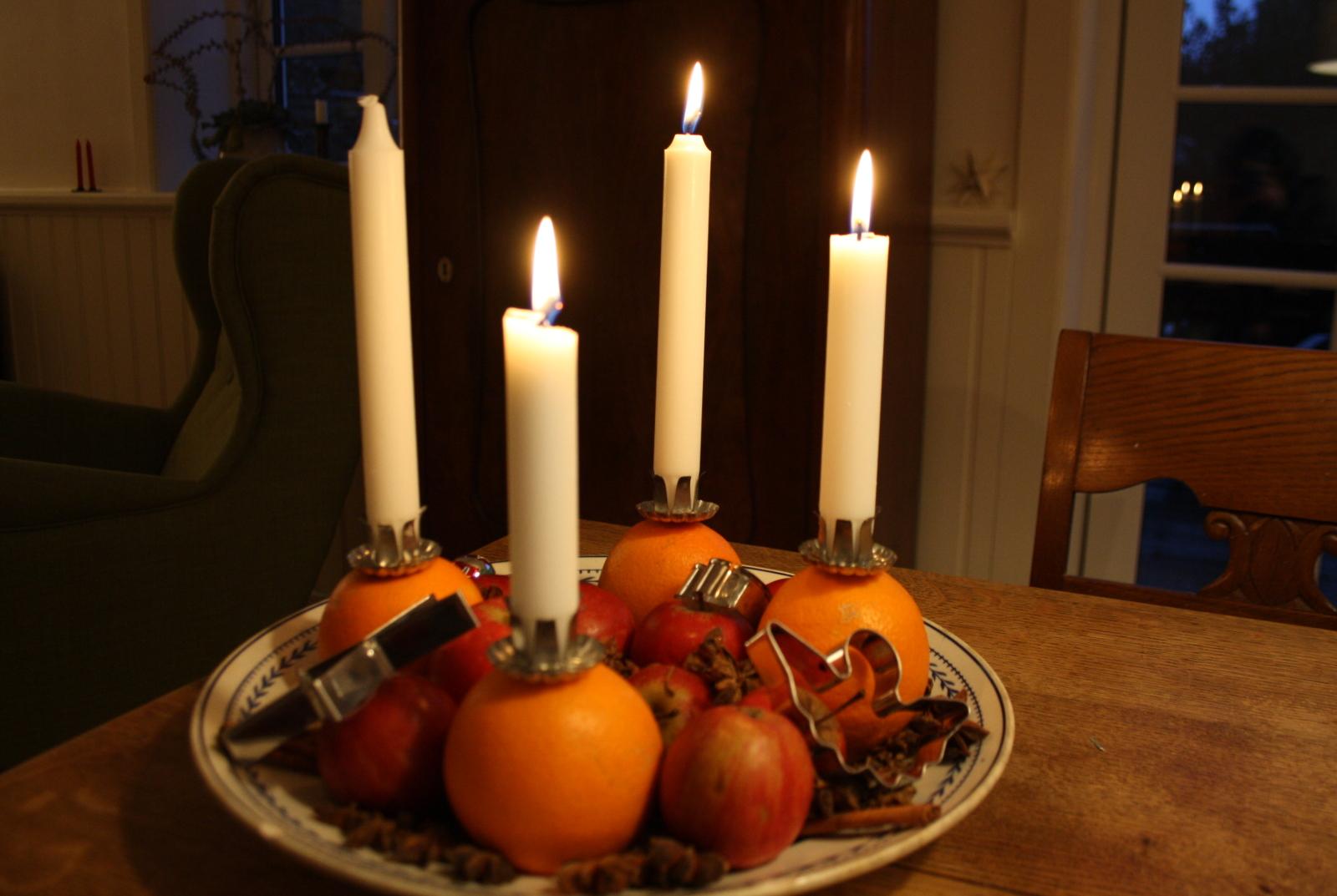 Appelsinadventskrans