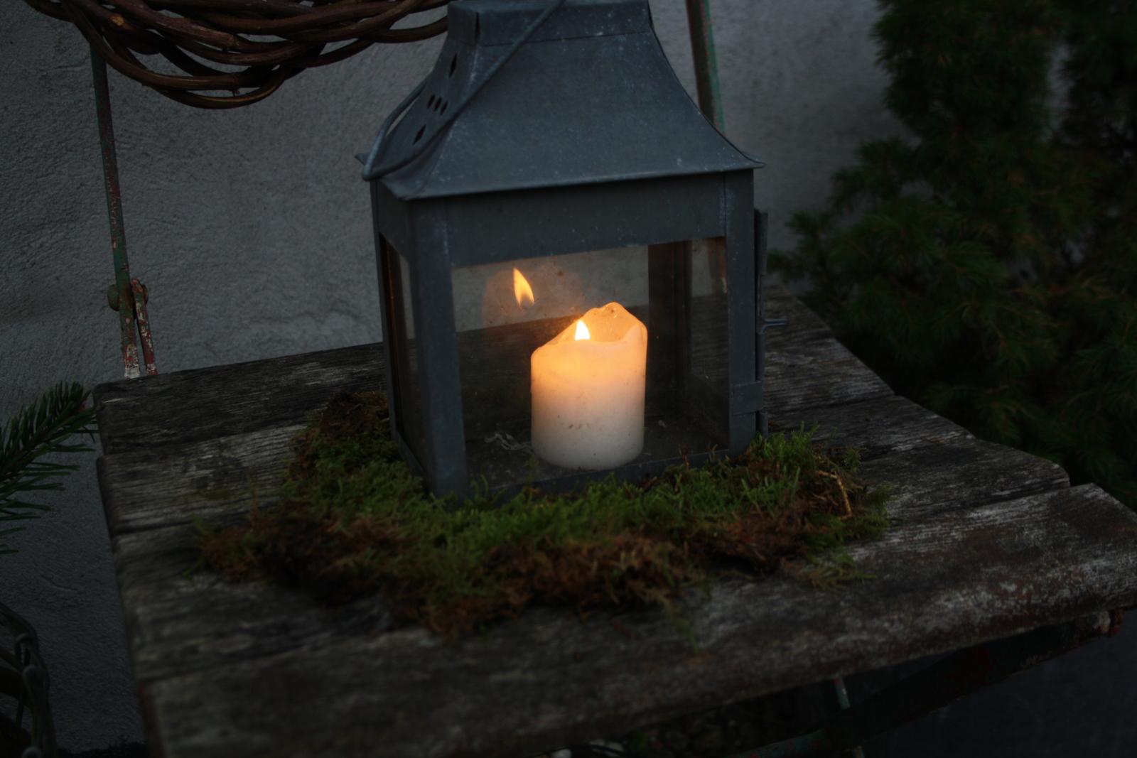 Lanterne på mos