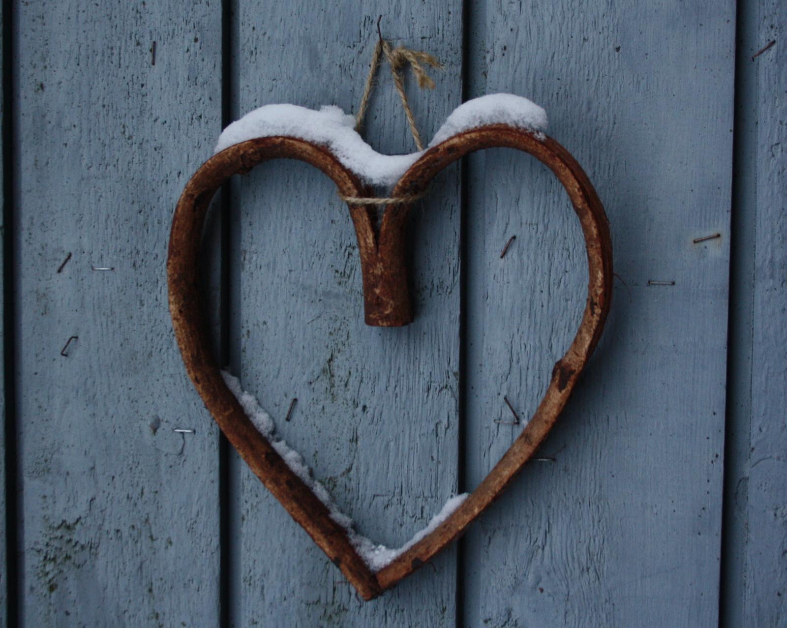 Hjerte med sne