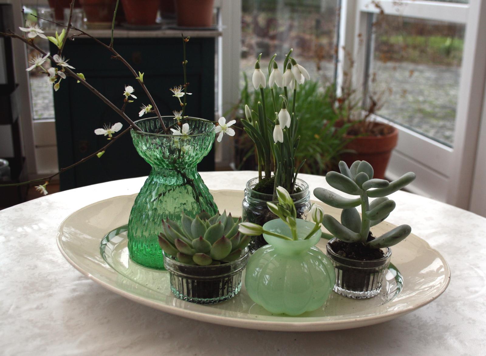 Fad med forår i vaser