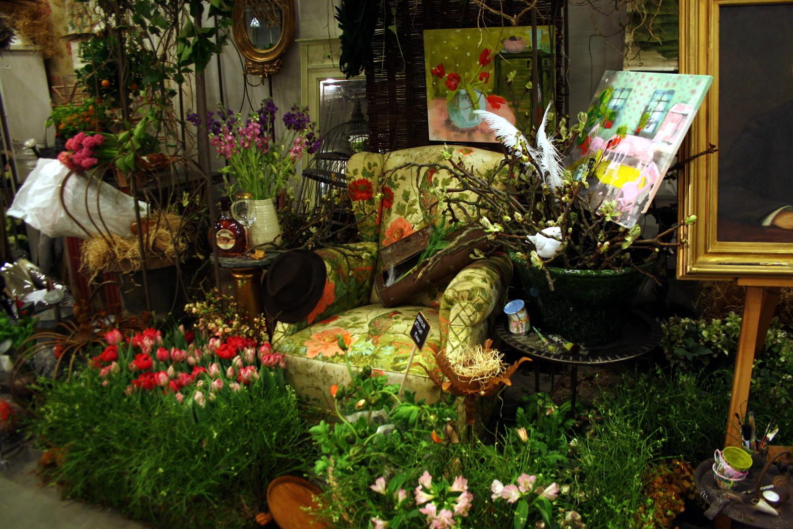Blomsterlænestol