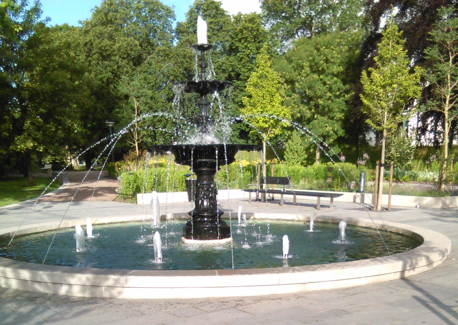 Stadsparken i Lund Springvand
