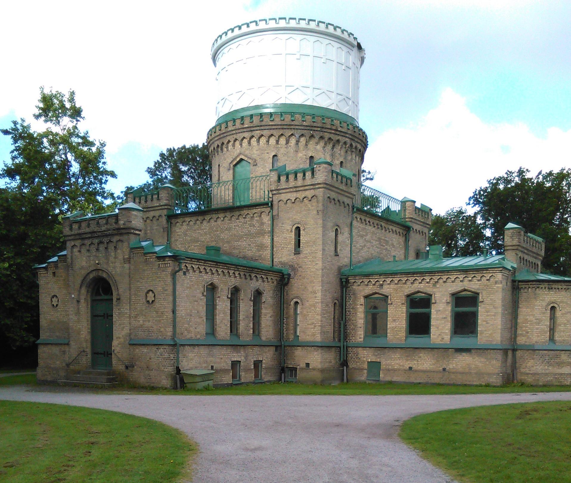 Stadsparken i Lund gammel fin bygning
